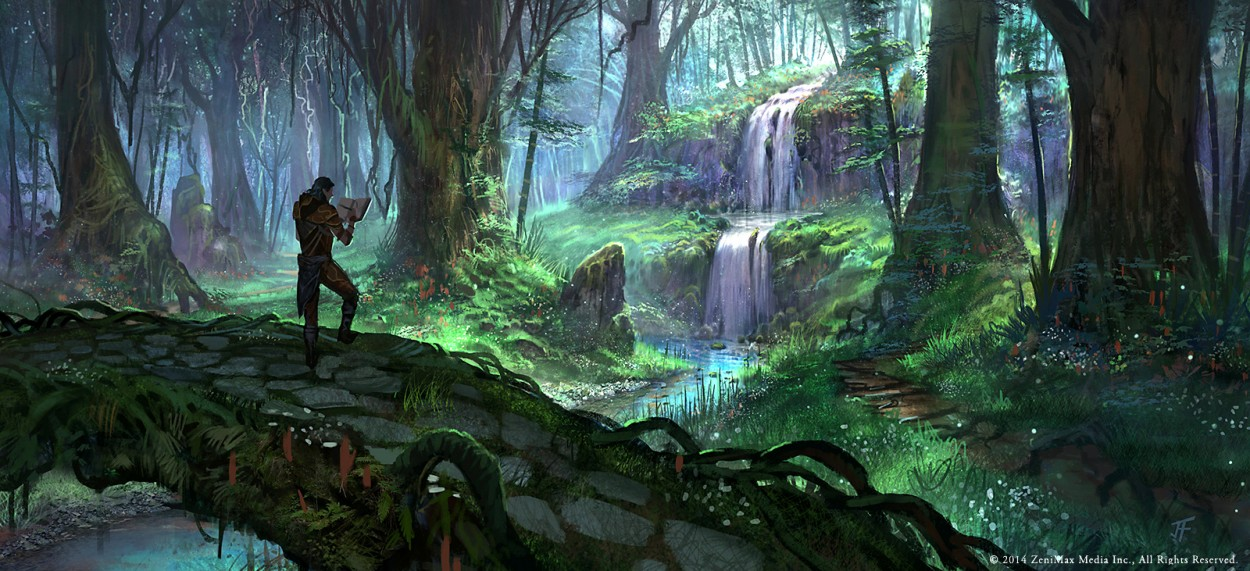 The Elder Scrolls: Online concept art  Bosmer Jungle