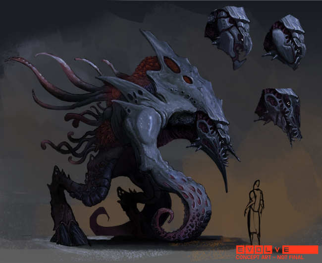 Evolve concept art picture Kraken концепт арт