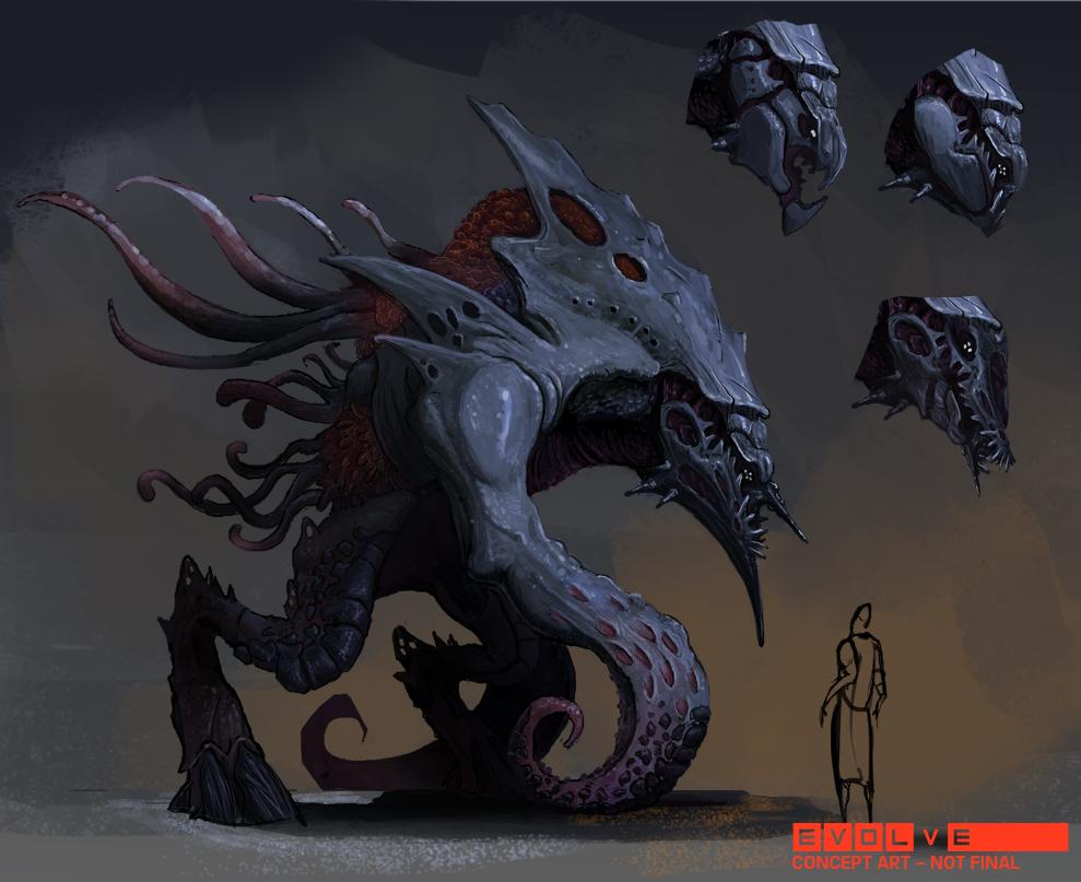 Evolve concept art picture Kraken концепт арт