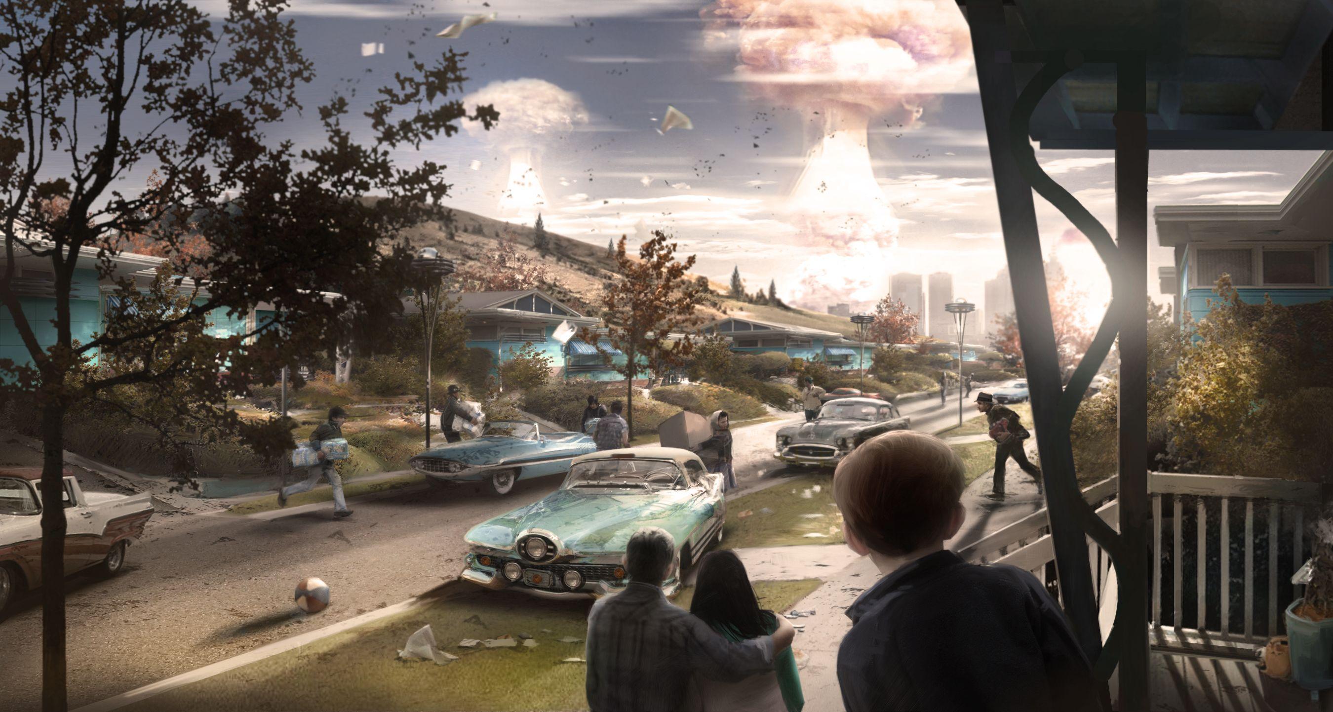 Fallout 4 concept art picture ядерная угроза