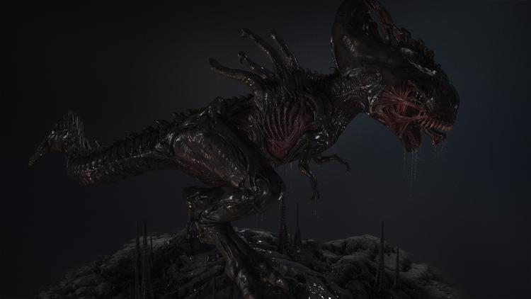 Xenomorph-Rex-art-3d-model