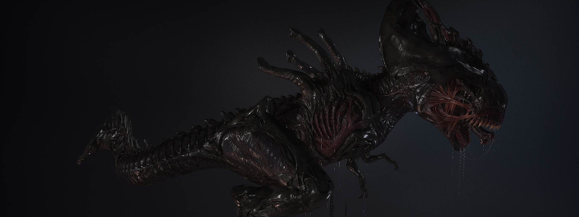 Xenomorph Alien Rex фильм и игра Art