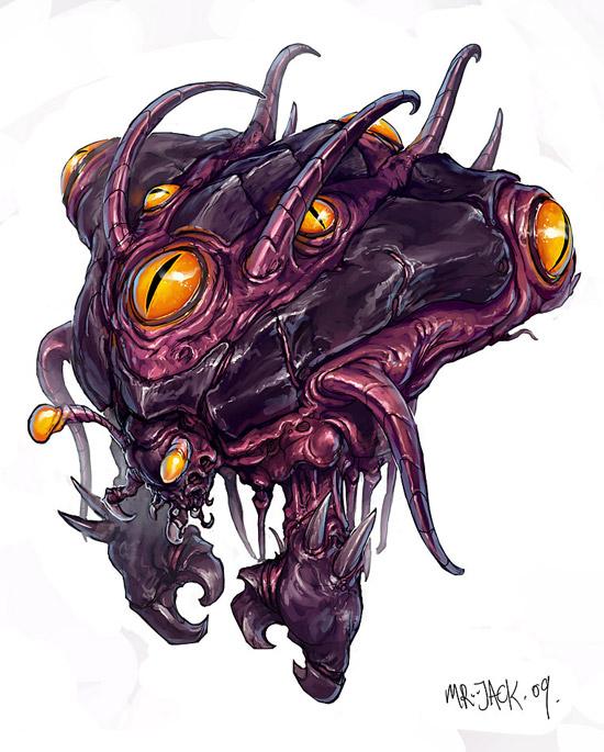 StarCraft 2 zerg concept art picture концепт Overseer