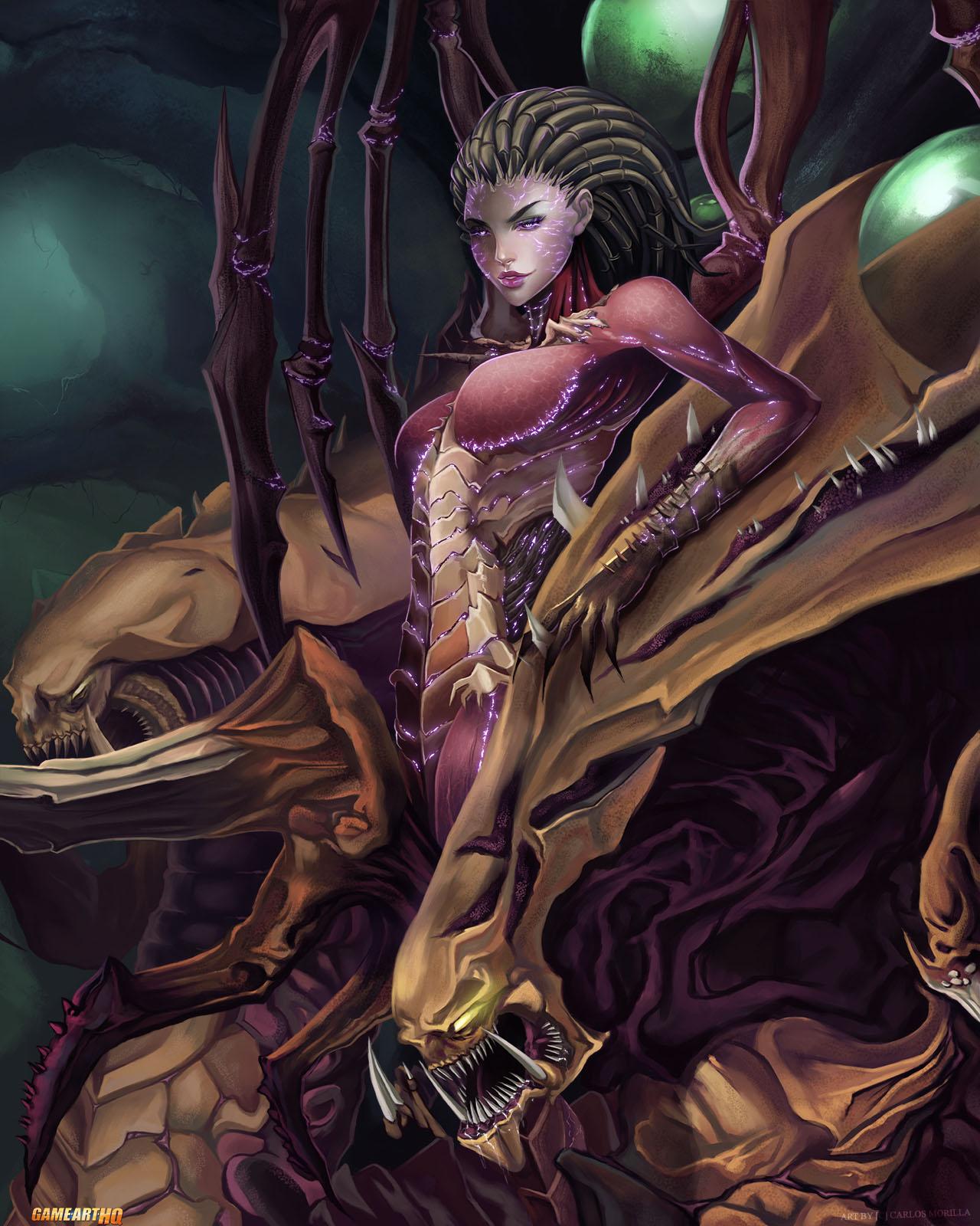 StarCraft 2 zerg concept art picture Sexy Kerrigan