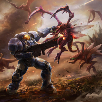 StarCraft 2 zerg concept art picture