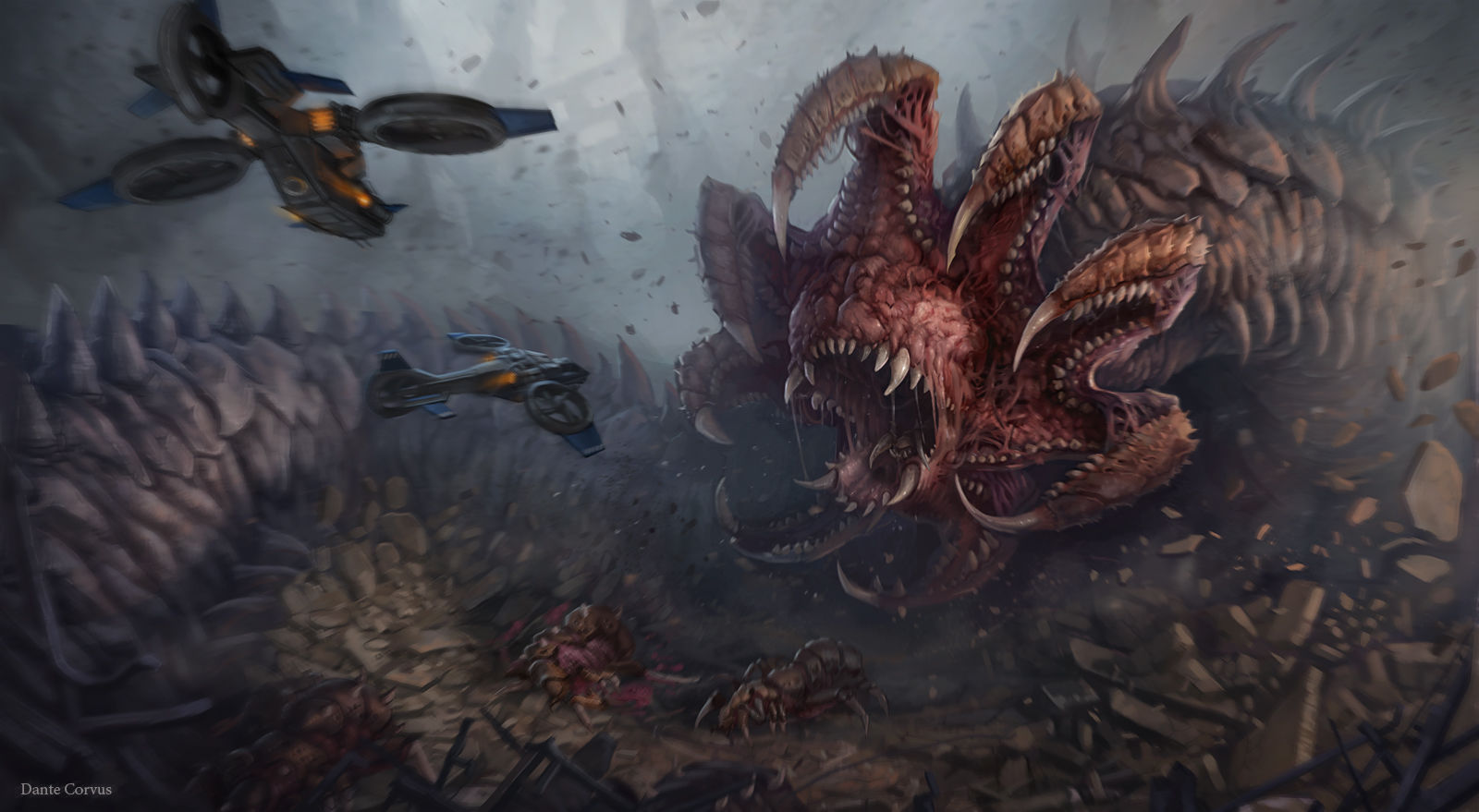 StarCraft 2 zerg concept art picture червь