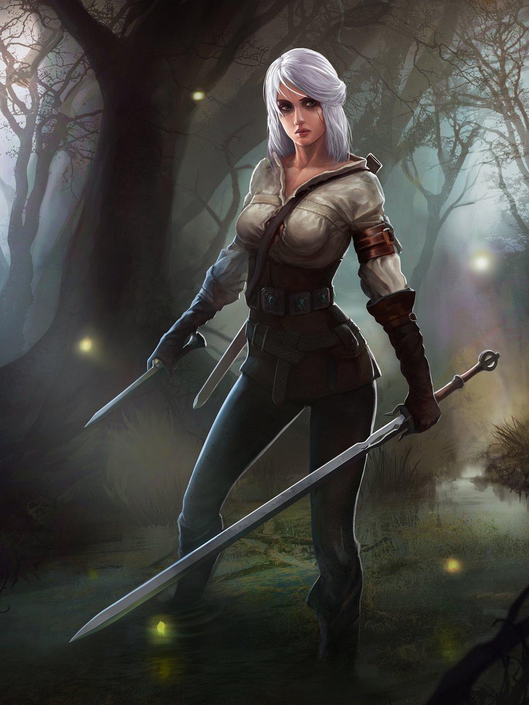 The Witcher 3 concept art picture Cirilla Цири