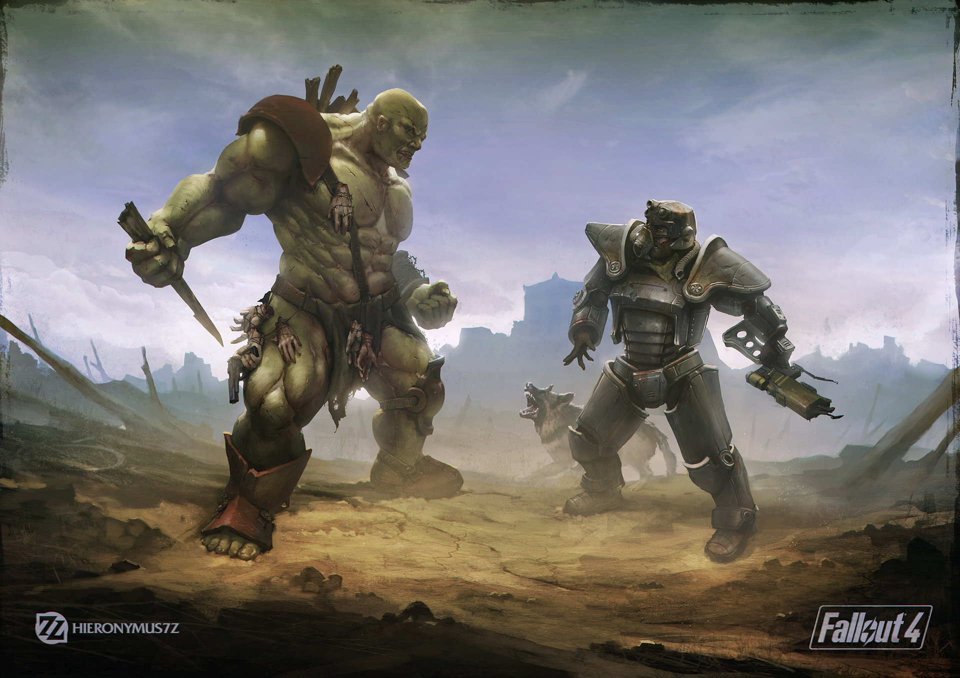 Fallout 4 concept art picture мутант