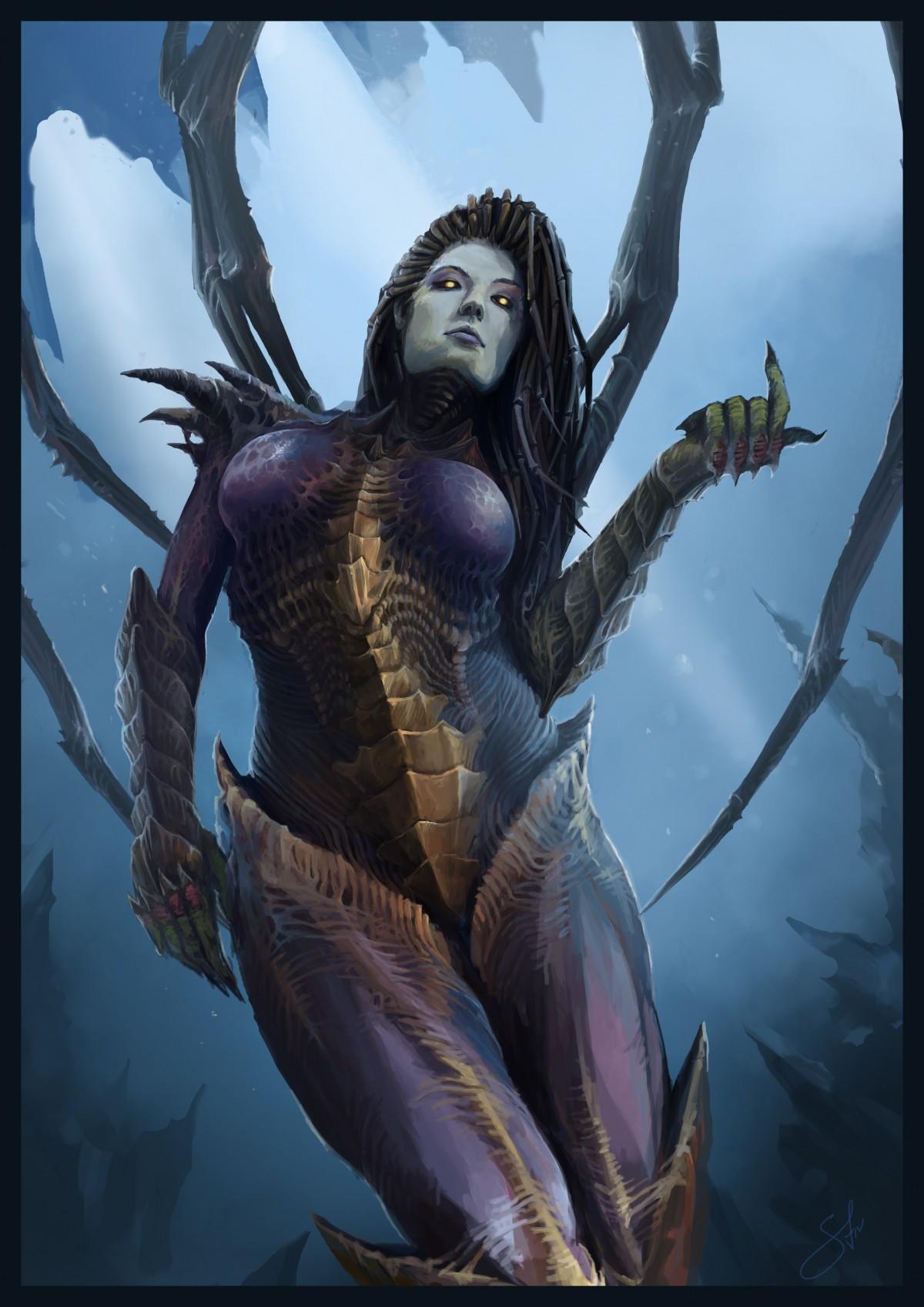 StarCraft 2 zerg concept art picture Керриган девушки из игр