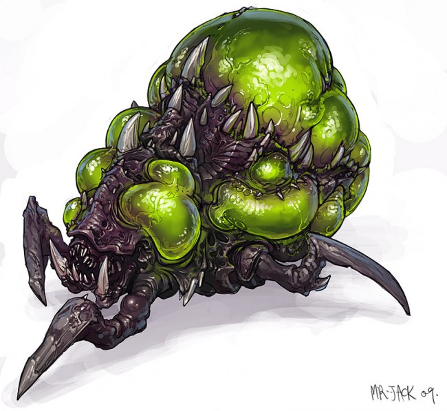 StarCraft 2 zerg concept art picture концепт banelingloox