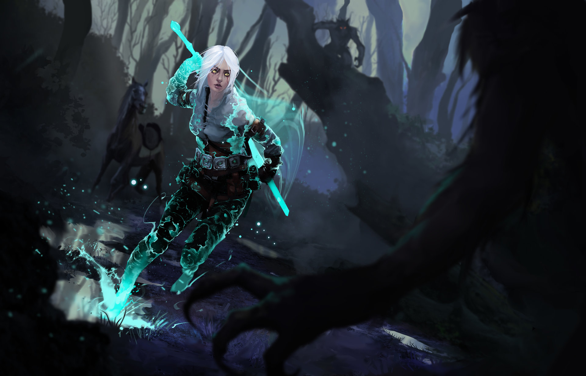 The Witcher 3 concept art picture Cirilla Цири источник