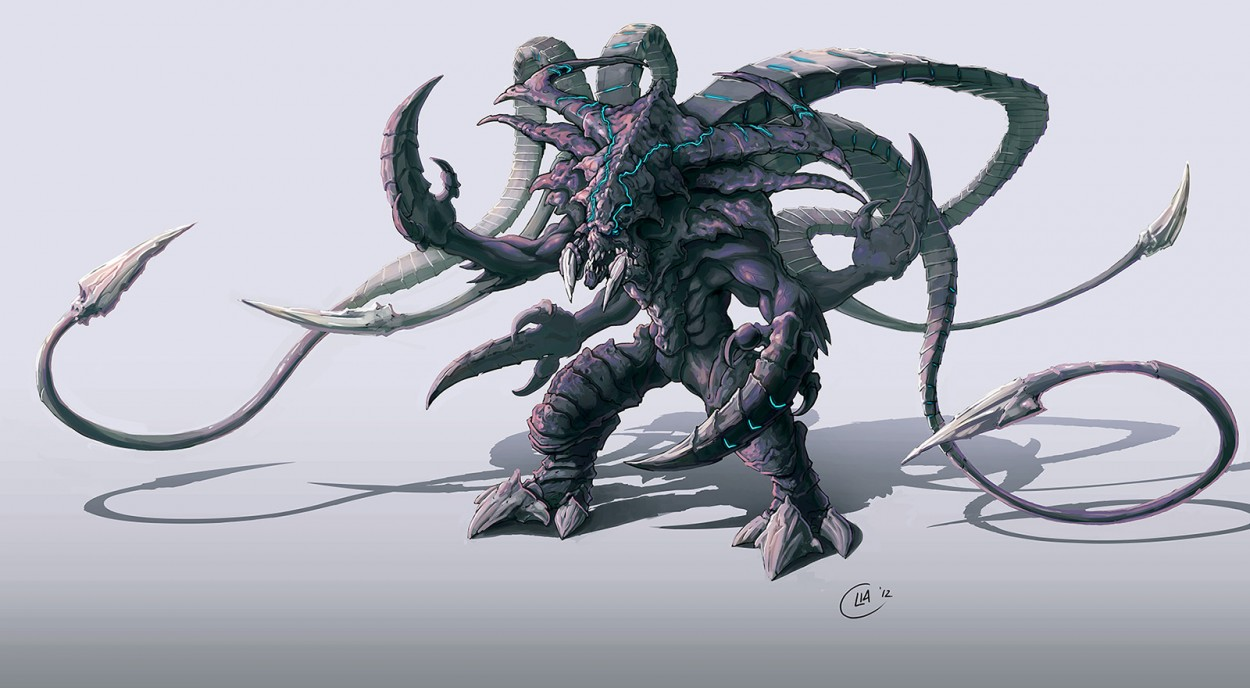 StarCraft 2 zerg concept art picture концепт гибрид