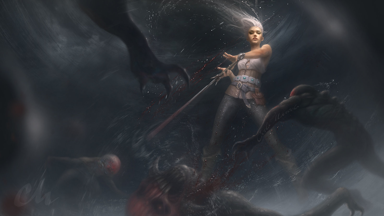 The Witcher 3 concept art picture фан цири