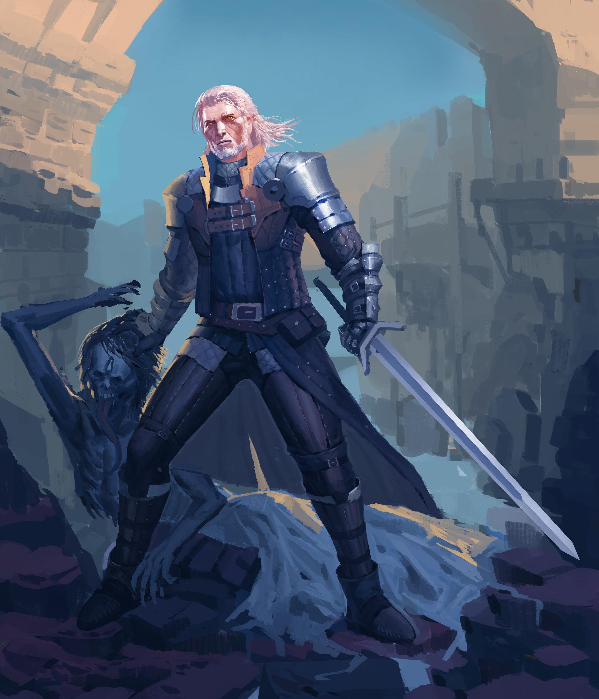 The Witcher 3 concept art picture witcher-fan-art Геральт