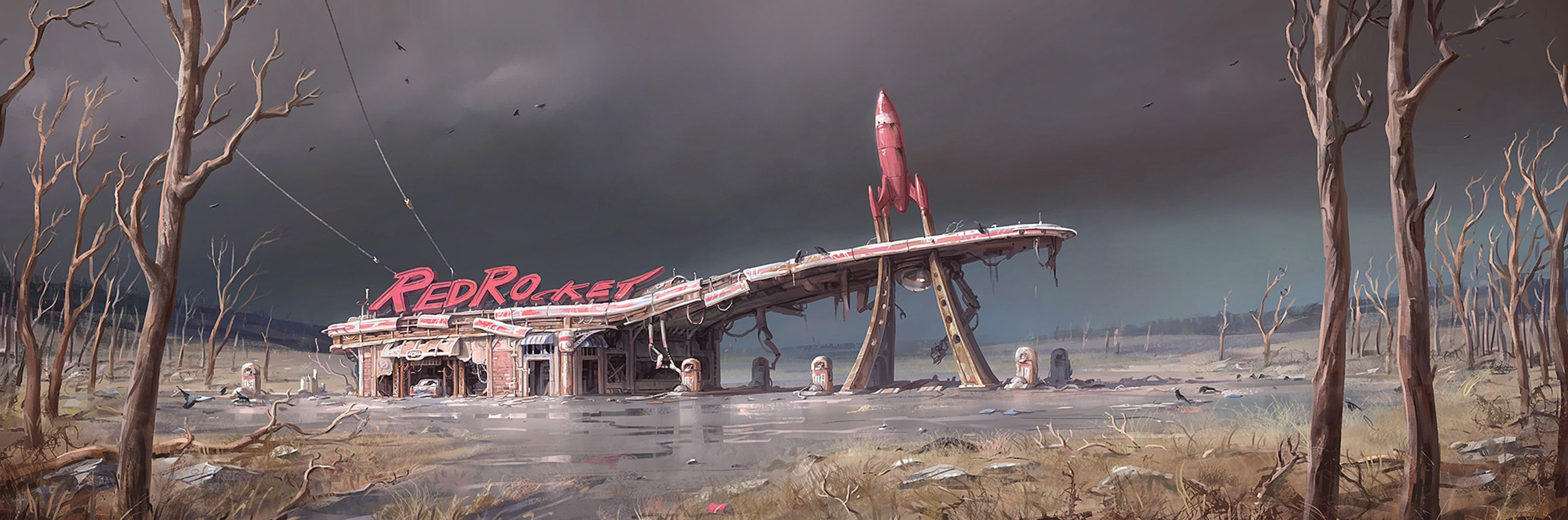 Fallout 4 concept art picture redrocket бар