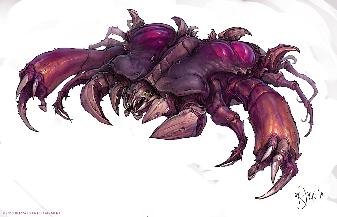 StarCraft 2 zerg concept art picture концепт guardian