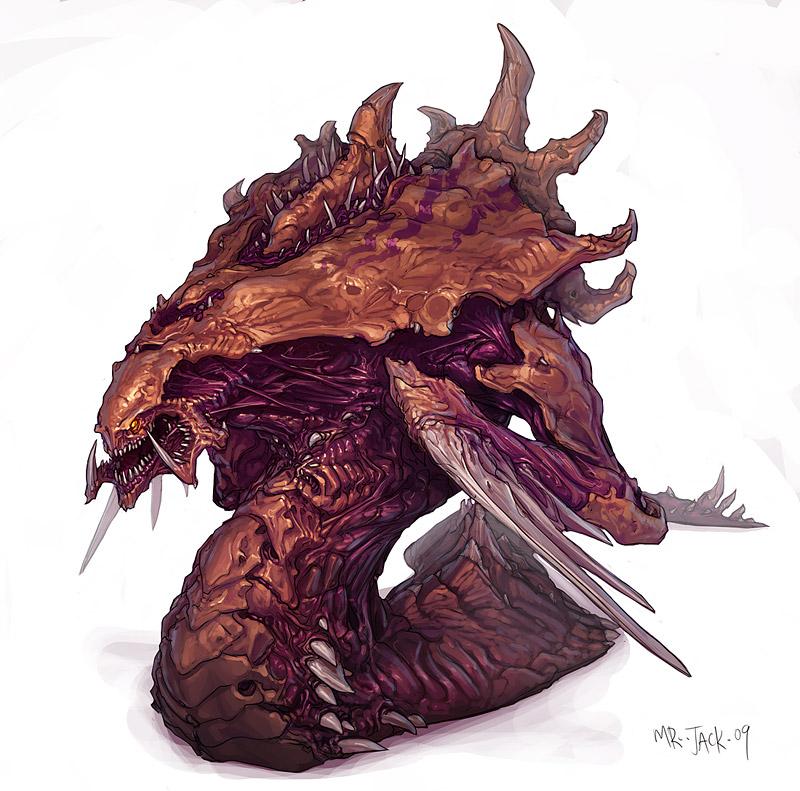 StarCraft 2 zerg concept art picture hydralodn