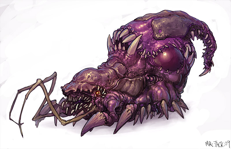 StarCraft 2 zerg concept art picture infestor
