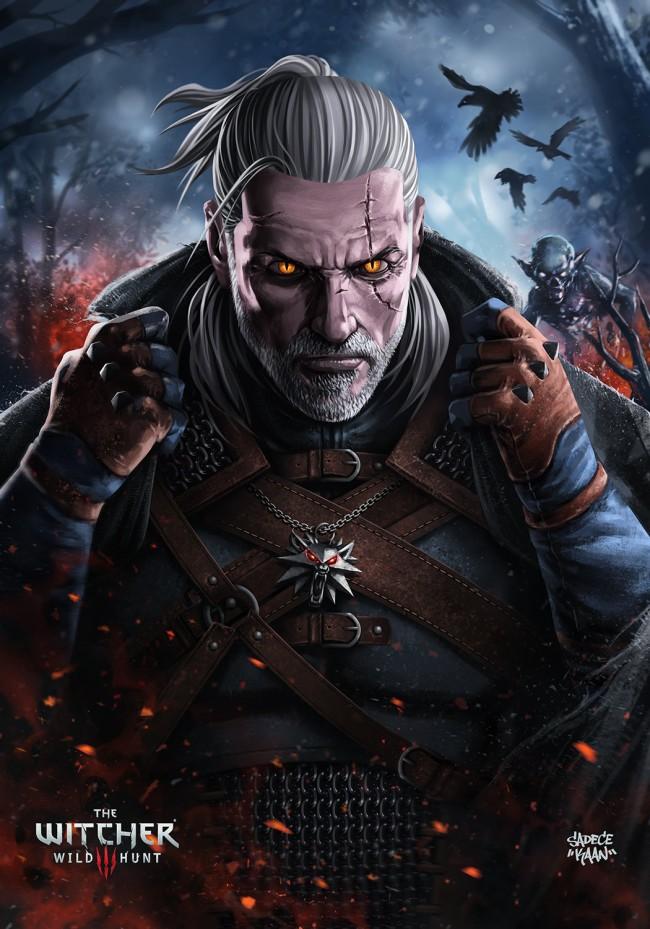 The Witcher 3 concept art picture Геральт фан обложка