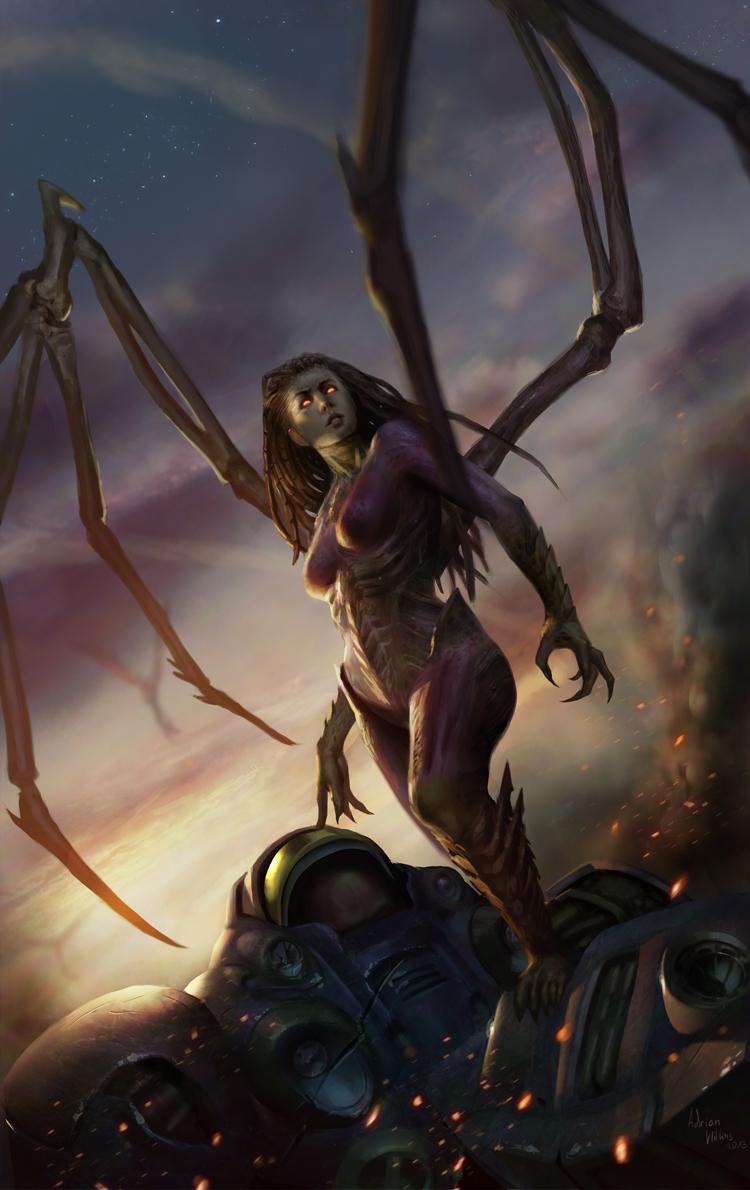 StarCraft 2 zerg concept art picture Керриган зерг
