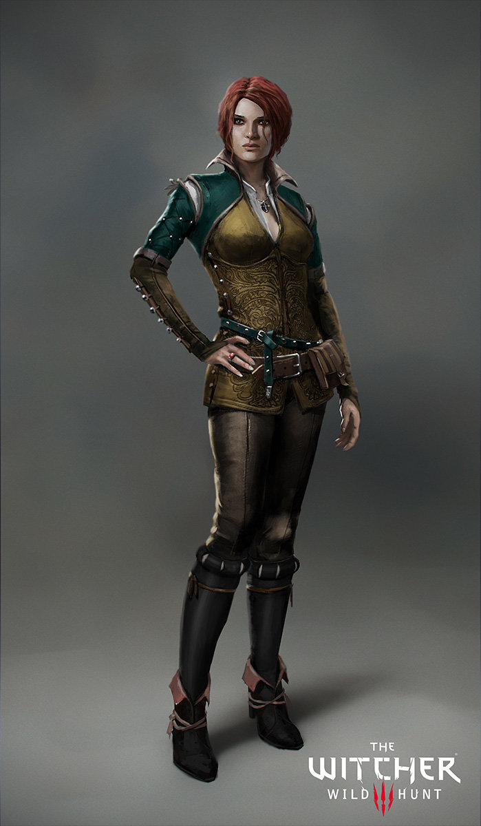 The Witcher 3 concept art picture triss