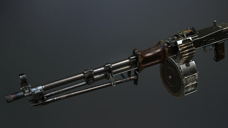 RPD machine gun-art-3d-model