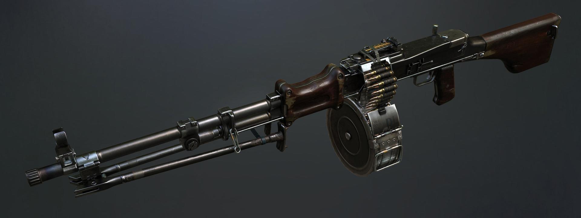 RPD machine gun-art-3d-model