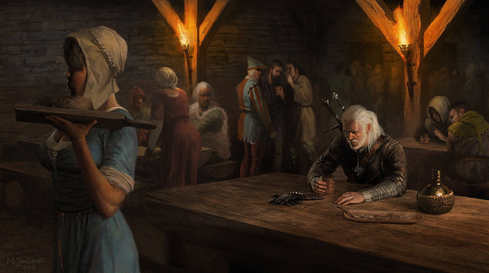 The Witcher 3 concept art picture remaster