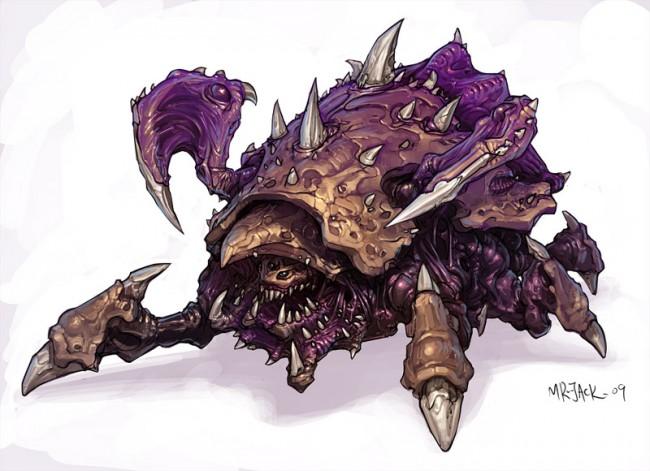 StarCraft 2 zerg concept art picture roachlomn