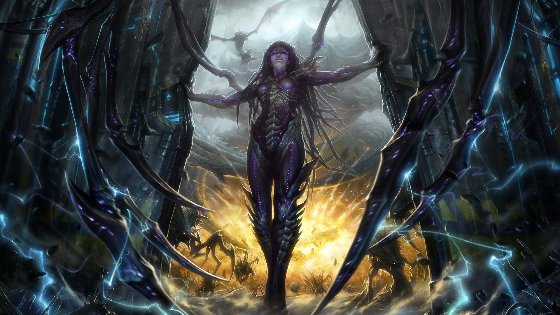 StarCraft 2 zerg concept art артбук