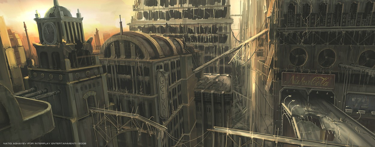 Fallout 4 concept art picture город
