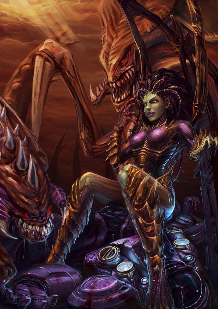 StarCraft 2 zerg concept art picture