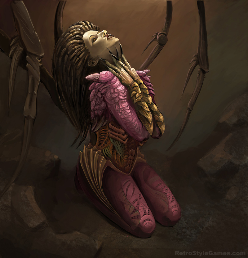 StarCraft 2 zerg concept art kerrigan fanart