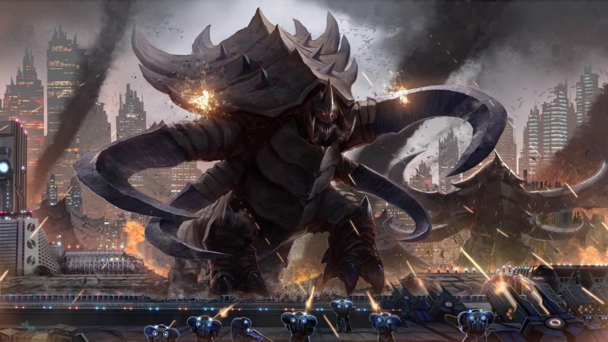 StarCraft 2 zerg concept art picture terran ultralisk