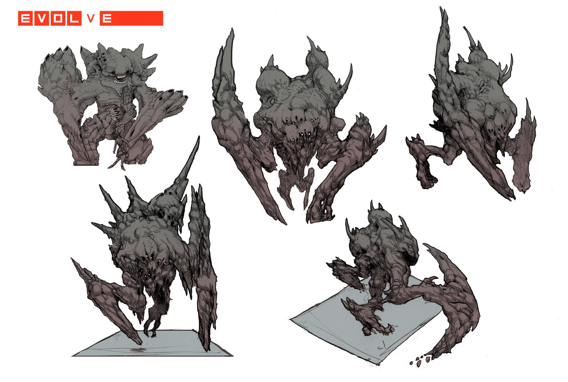 Evolve concept art behemoth первая версия
