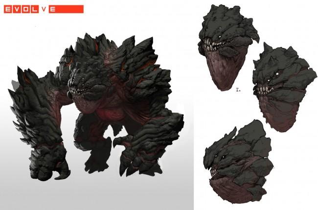 Evolve concept art behemoth рендер из концепта