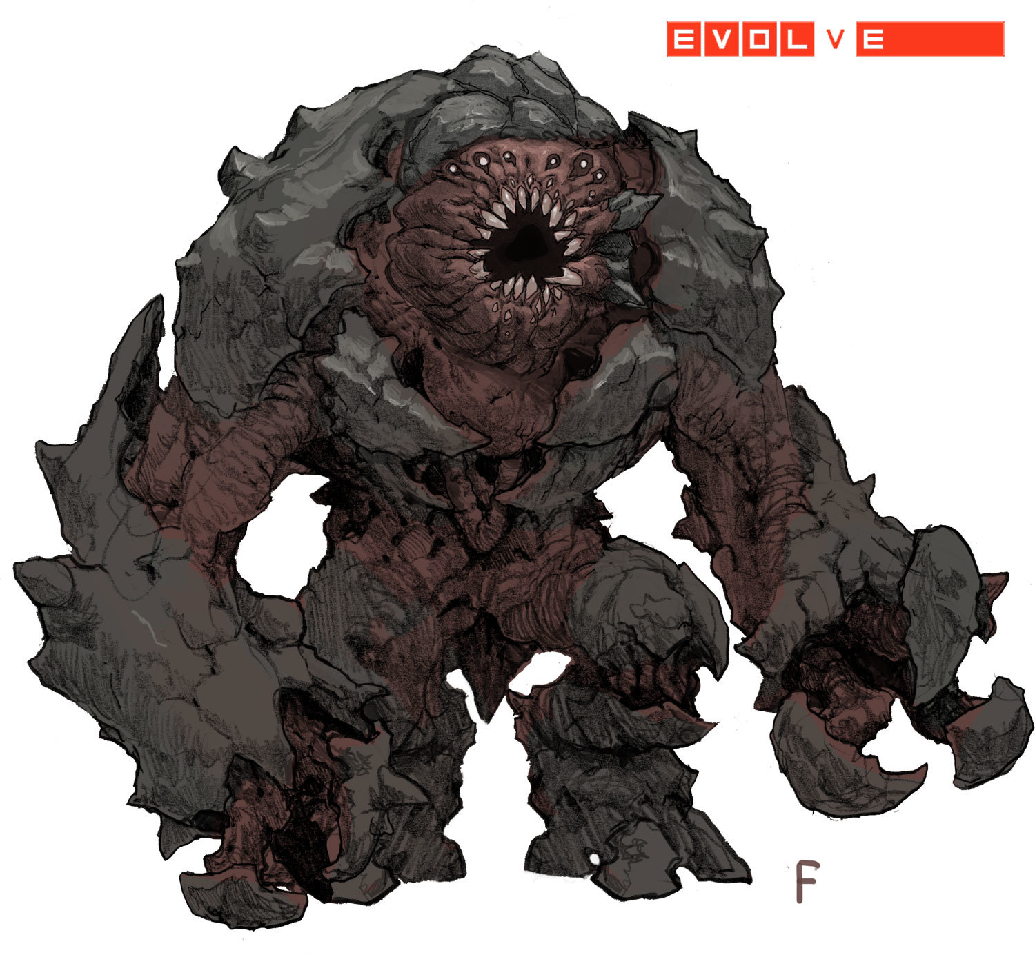 Evolve concept art picture behemoth одна из версий