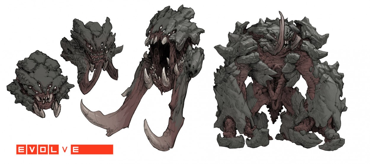 Evolve concept art picture behemoth бивни и клыки