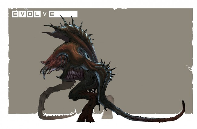Evolve concept art picture kraken первая версия