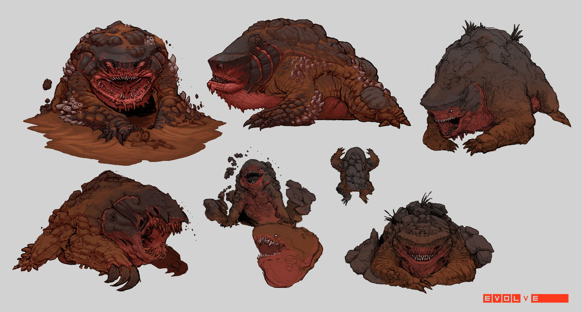 Evolve concept art picture megamouth