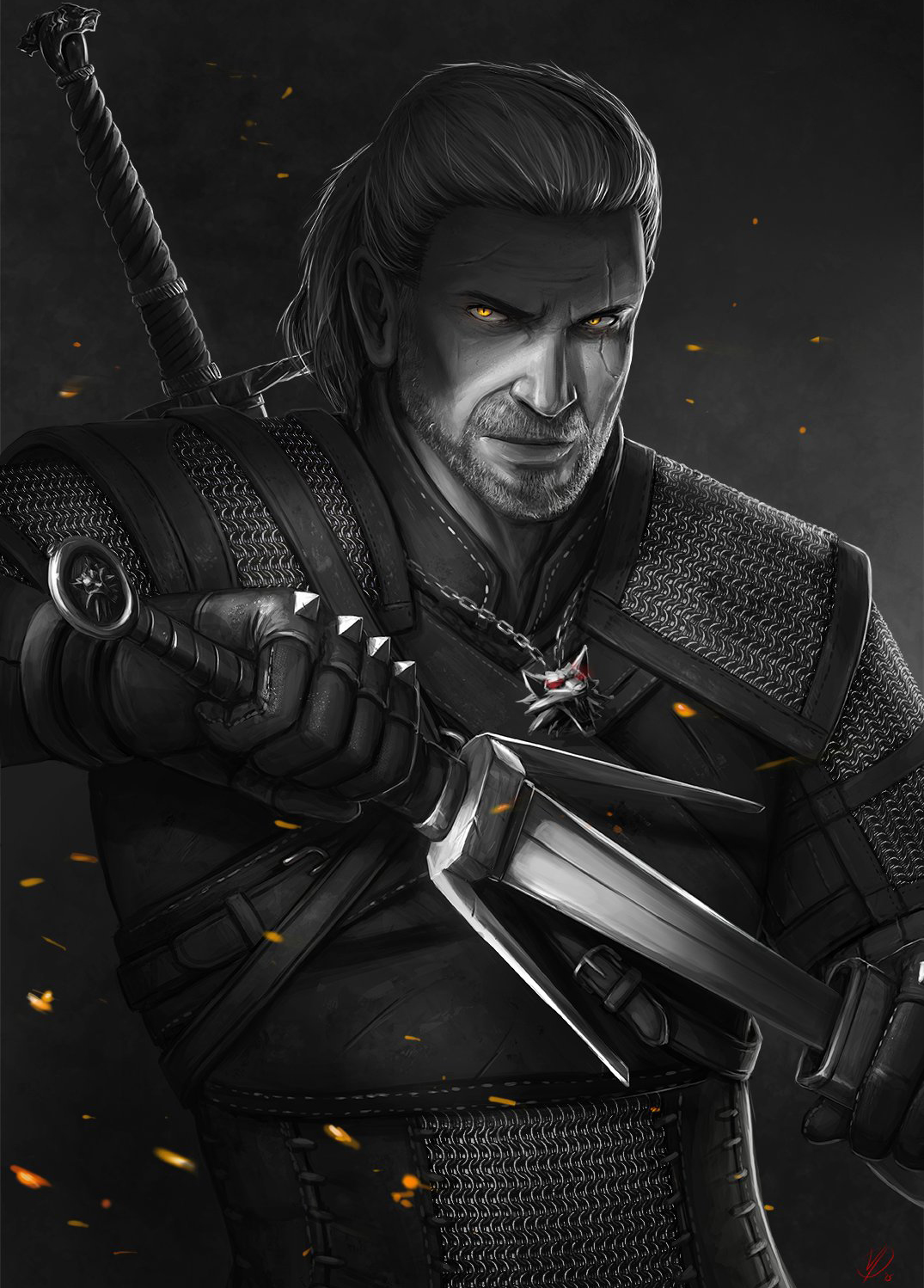 Постер Geralt (The Witcher 3) original