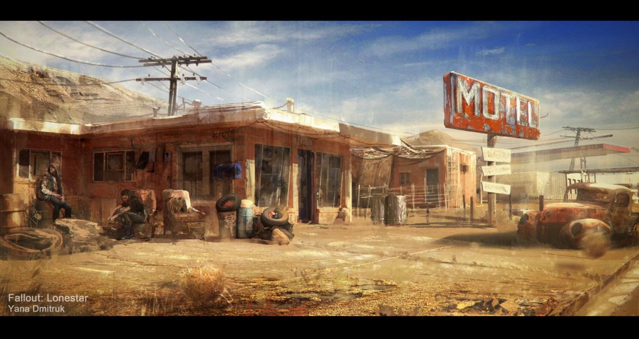 Fallout concept art picture отель
