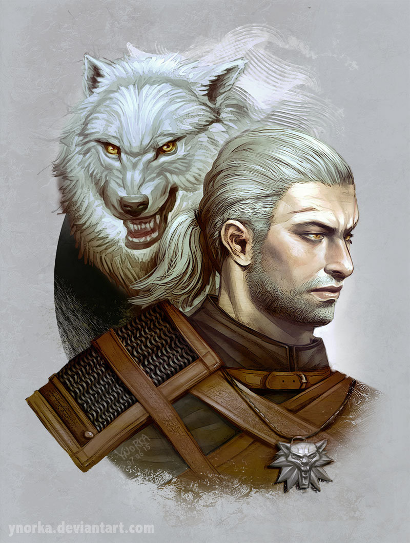 The Witcher 3 concept art picture the white wolf белый волк