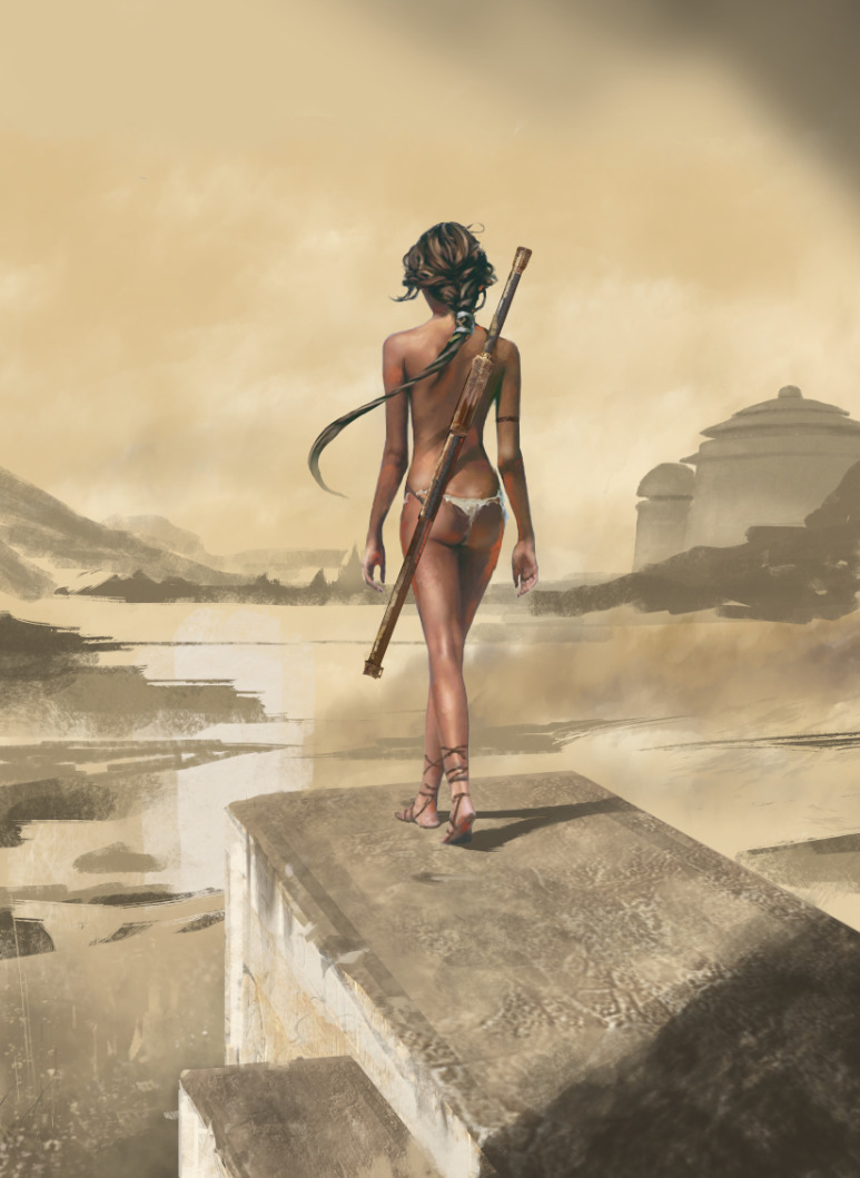 Арт девушки в пустыне от David Seguin