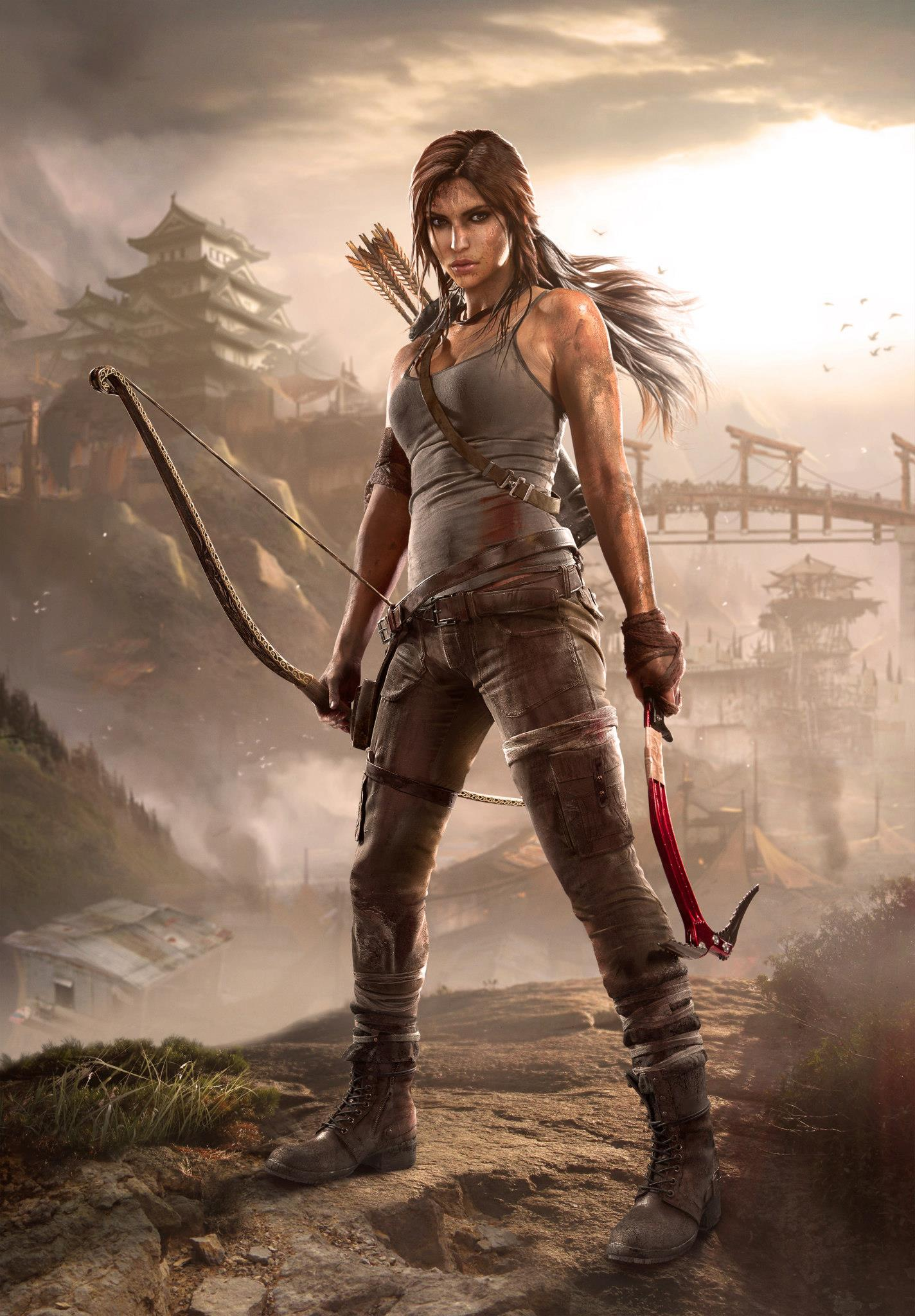 Арты девушек Лара Крофт из Tomb Raider