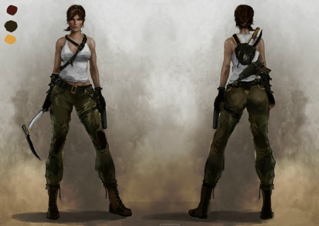 Tomb Raider Concept Art — Лара Крофт 4