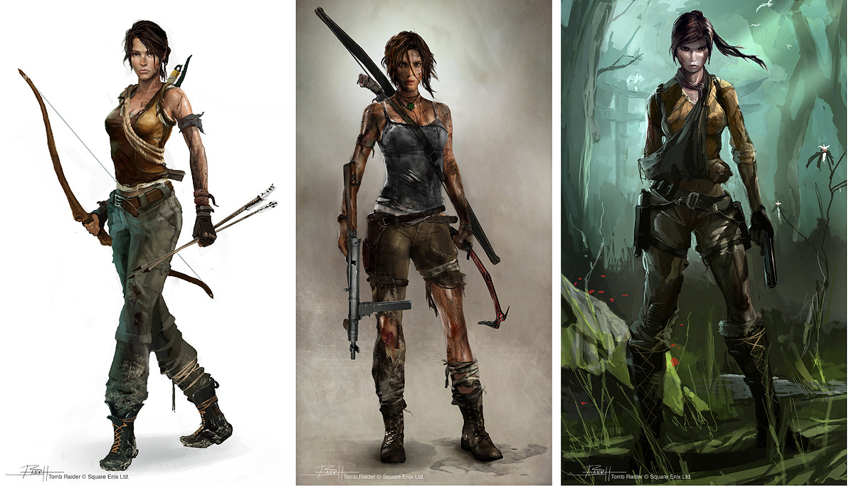 Tomb Raider Concept Art — Lara Croft