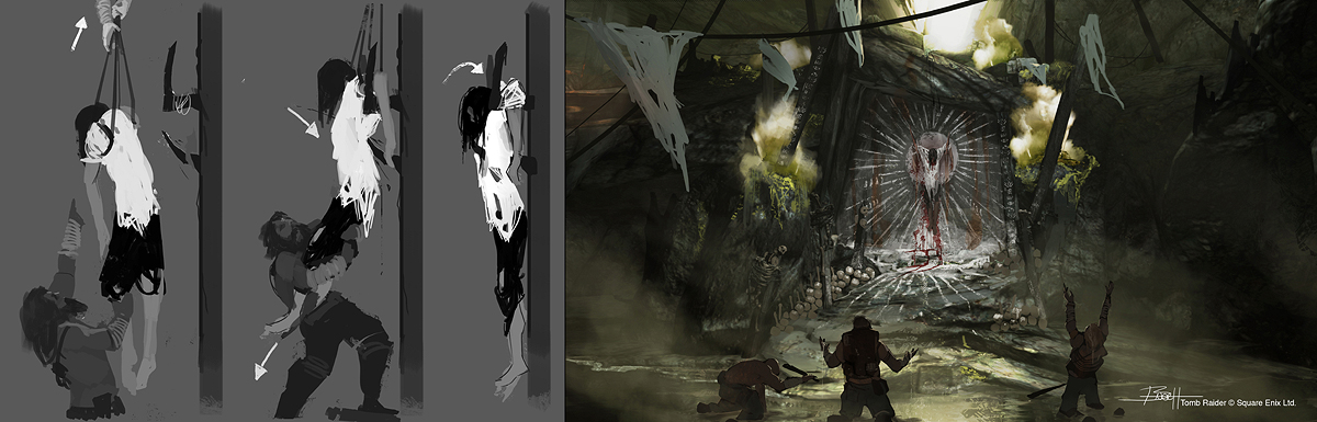 Tomb Raider Concept Art — обряд