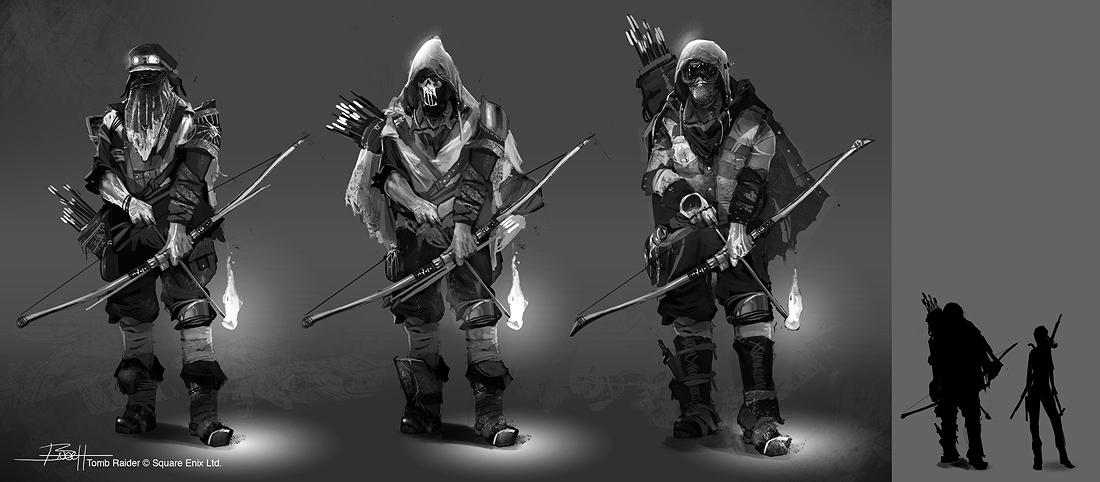 Tomb Raider Concept Art — лучники враги