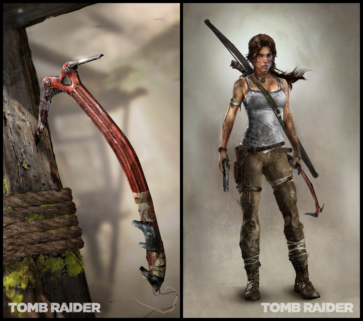 Tomb Raider Concept Art — Lara Croft топор
